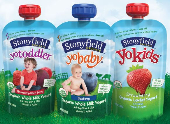 Stonyfield Organic Squeeze Yogurts - Vegetarian Options