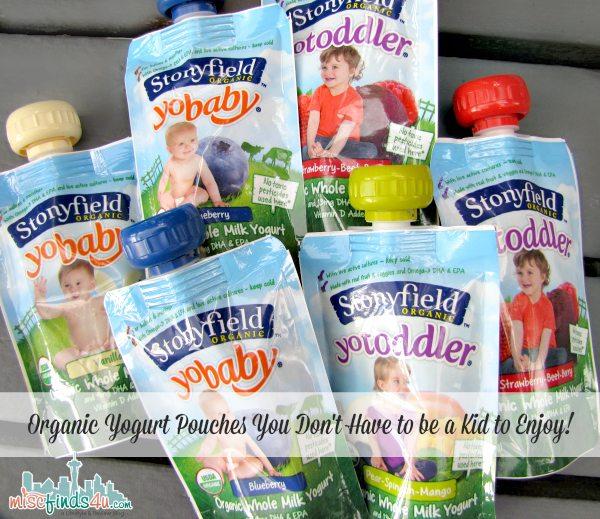 Stonyfield Organic Yogurt Pouches - YoBaby, YoToddler & YoKids  #MC #sponsored