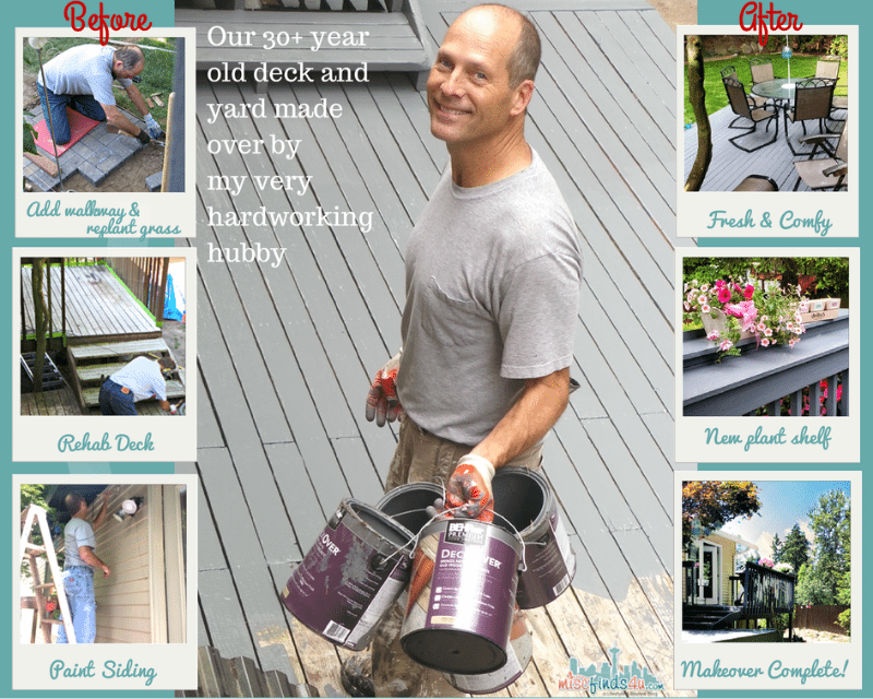 Backyard and deck rehab and makeover - Outdoor Entertaining Ideas: Relaxing Coastal Theme Recipes & Ideas - ad #SummerGetaway Sweepstakes