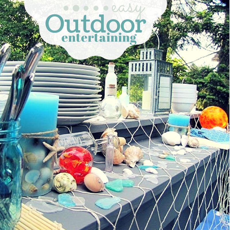 Coastal Theme - Summer Dinner on the Deck - Outdoor Entertaining: Relaxing Coastal Theme Recipes & Ideas - ad #SummerGetaway Sweepstakes