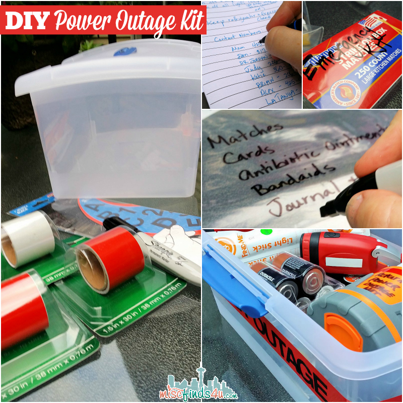 DIY Power Outage Kit - How to Choose the Essentials & Power it with Duracell #PrepWithPower  #cbias #shop
