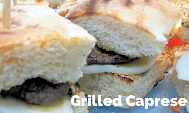 Sliders Recipe: Grilled Caprese Pesto Appetizers