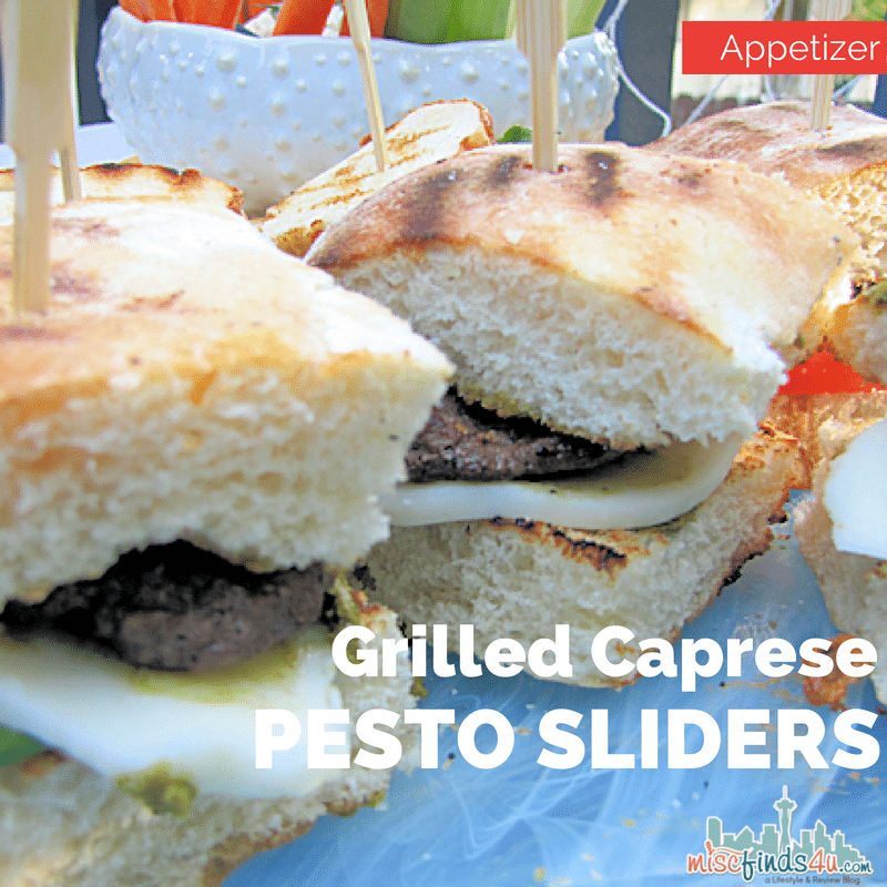 Sliders Recipe: Grilled Caprese Pesto Appetizers - Baby to Boomer ...