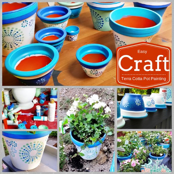 How to Paint Terracotta Pots: Easy Summer Craft #DIY