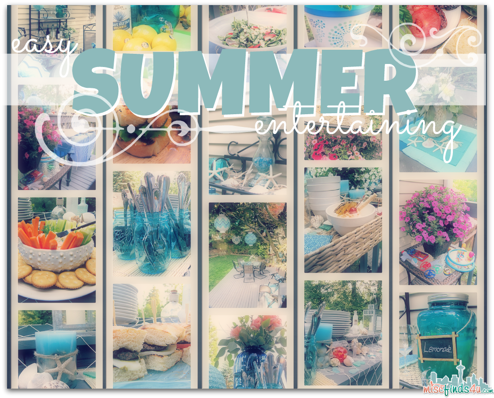 Easy Summer Entertaining Ideas - Outdoor Entertaining: Relaxing Coastal Theme Recipes & Ideas - ad #SummerGetaway Sweepstakes