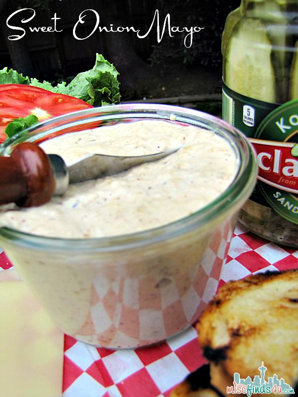 Grilled Sweet Onion Mayo Recipe - #SayCheeseburger #CollectiveBias #shop