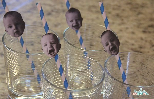 baby face party straws - Stress Free Birthday Parties: First Birthday Party Ideas