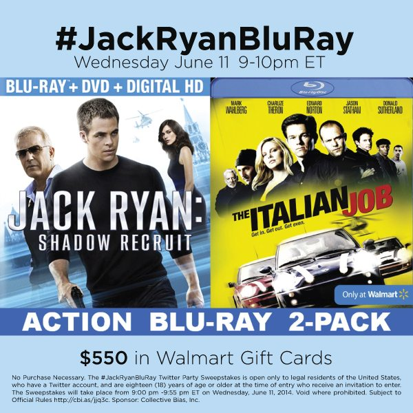 Jack Ryan Blu-Ray Twitter Party 6-11