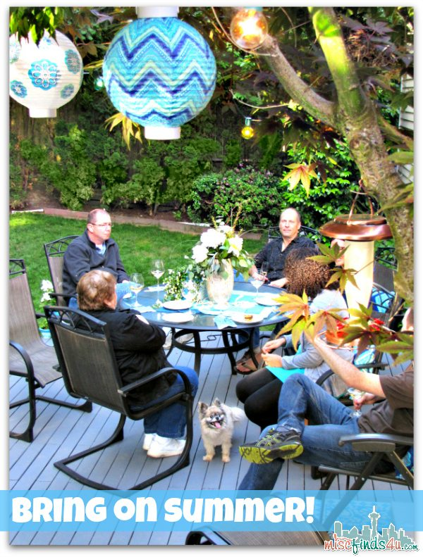 Outdoor Entertaining - Simple Ideas for an Outdoor Oasis Party