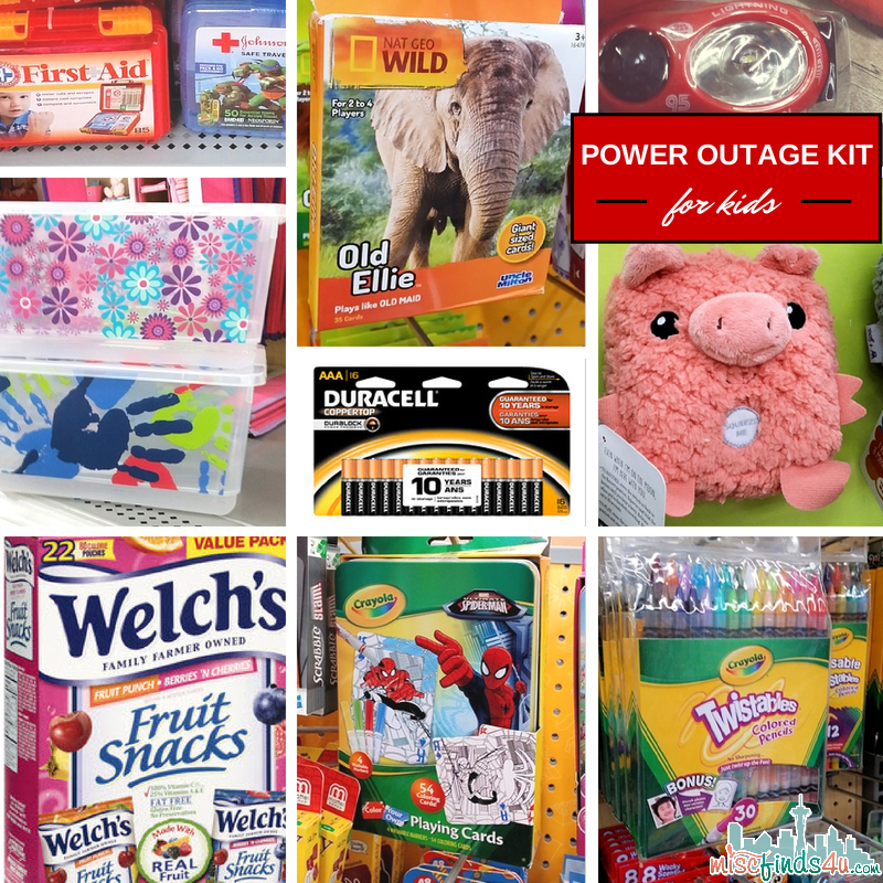 Power Outage Kits for Kids - Power Outage Kit - How to Choose the Essentials & Power it with Duracell #PrepWithPower  #cbias #shop