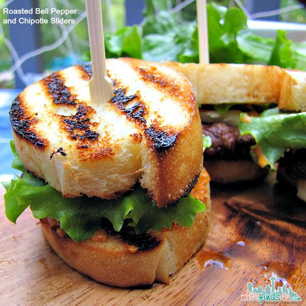 Super Bowl Appetizer Recipe: Grilled Roasted Bell Pepper and Chipotle Sliders