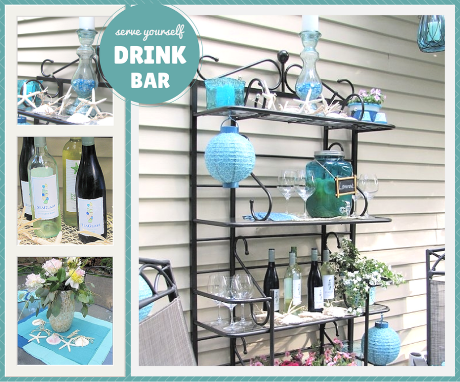 Serve Yourself Drink Bar - Outdoor Entertaining: Relaxing Coastal Theme Recipes & Ideas - ad #SummerGetaway Sweepstakes