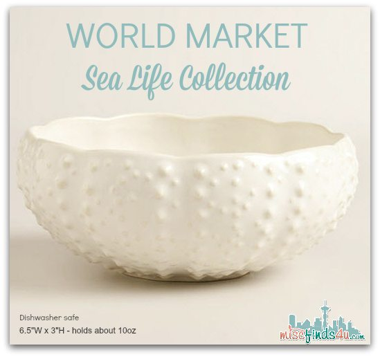 World Market Sea Urchin Bowl - 2014 Sea Life Collection