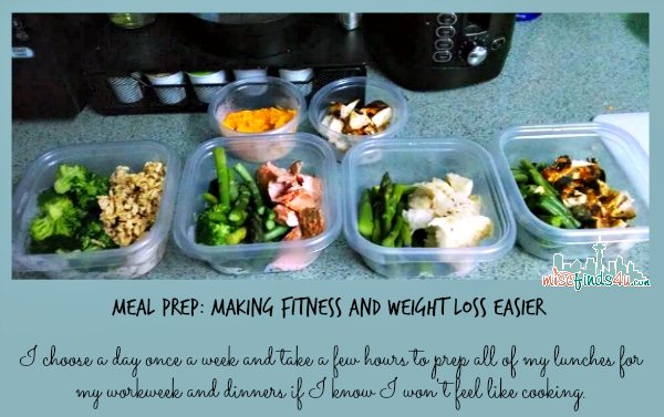 food prep for weight loss and clean eating
