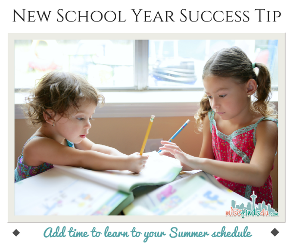 Beat Summer Brain Drain - Schedule Learning Time in Summer