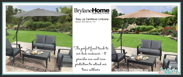 Deck Decor: Easy Up Cantilever Umbrella Adds the Finishing Touch