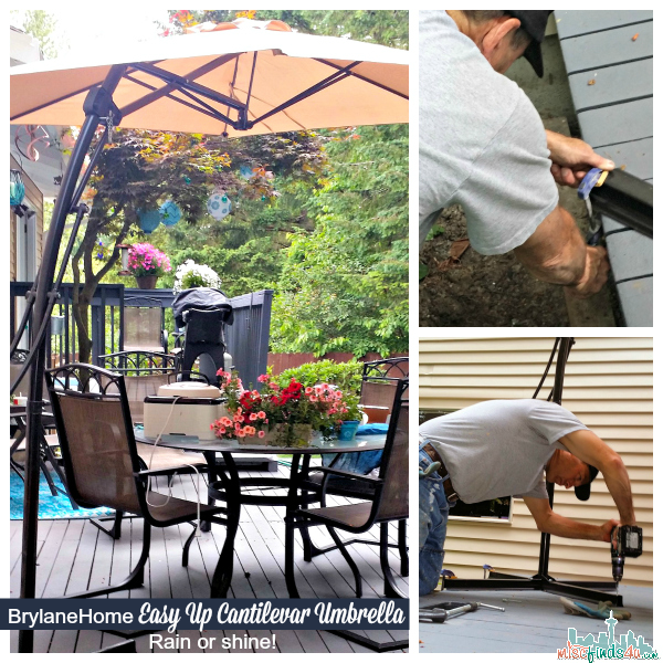 BrylaneHome Easy-Up Cantilever Umbrella Installation -Ad