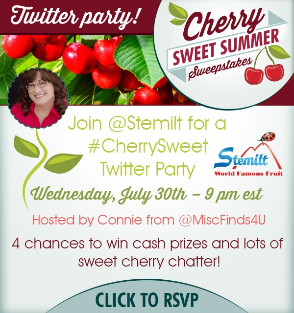 Stemilt #CherrySweet Twitter Party 7/30/14