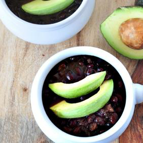 Crock Pot Black Bean Soup by My Whole Foods Life