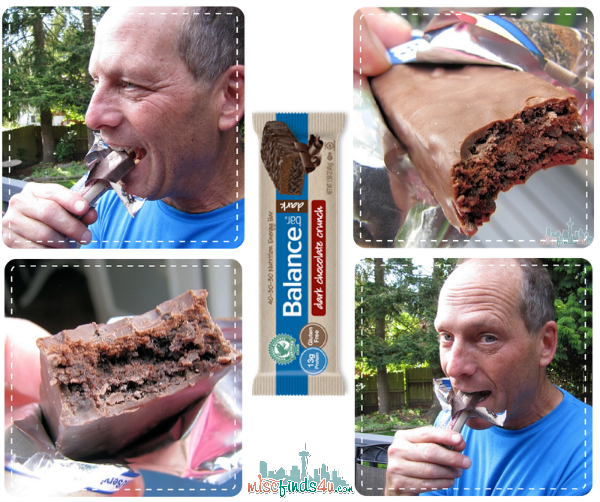 Dark Chocolate Crunch Balance Bar Taste Test - Balance Bar: Chocolate Protein Energy Bars We Both Love - he needs them for the nutrition boost, I like them in place of sweet treats with empty calories #BalanceShapeUp #ad