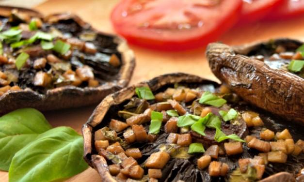 "Portobello Mushroom Recipes: Grilled Ginger-Marinated ""Steaks"""
