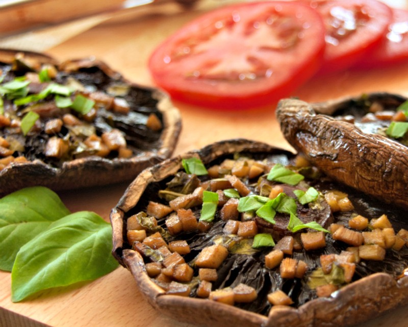 "Portobello Mushroom Recipes: Grilled Ginger-Marinated ""Steaks"""