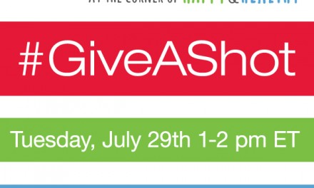 RSVP for the #GiveAShot Twitter Party 7/29 10 PDST #cbias