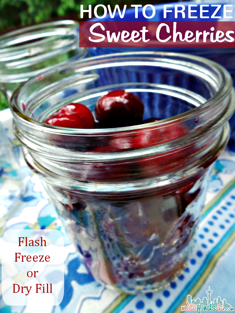 How to Freeze Sweet Cherries - Flash Freeze or Dry Fill Options