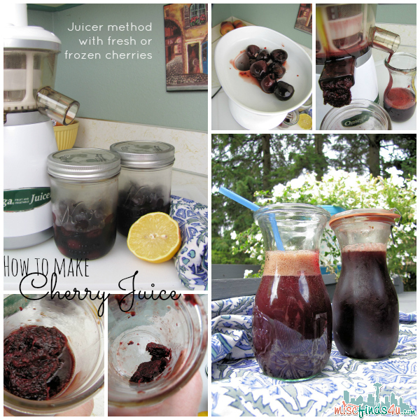 How to Make Cherry Juice from Fresh or Frozen Cherries