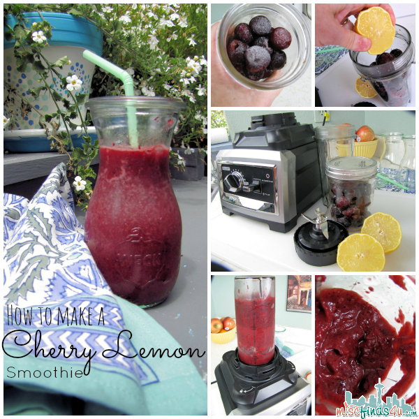 How to make a Cherry lemon Smoothie