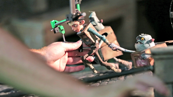 An animator's hands working on the delicate process of the puppet's movement during production of LAIKA and Focus Features' family event movie THE BOXTROLLS, opening nationwide September 26th. Credit:  LAIKA, Inc.