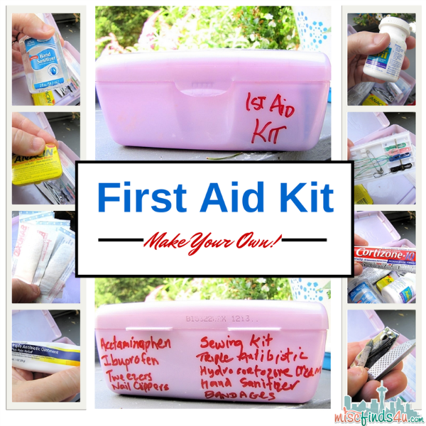 Make Your Own First Aid Kit - #MC #Cortizone10 sponsored