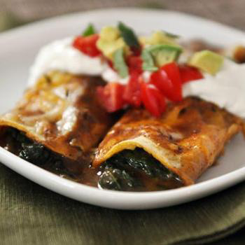 Spinach Cheese Enchiladas by Mels Kitchen Cafe