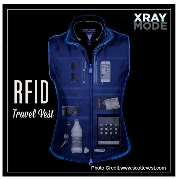 Womens RFID Travel Vest