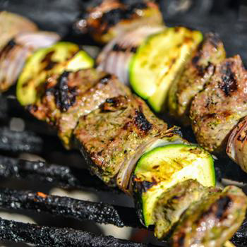 Yogurt and Mint Marinated Lamb Skewers by Serious Eats