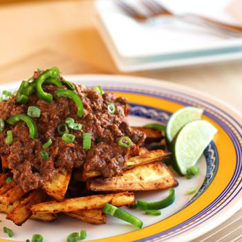 Chili Topped Parsnip Wedges by Meatified