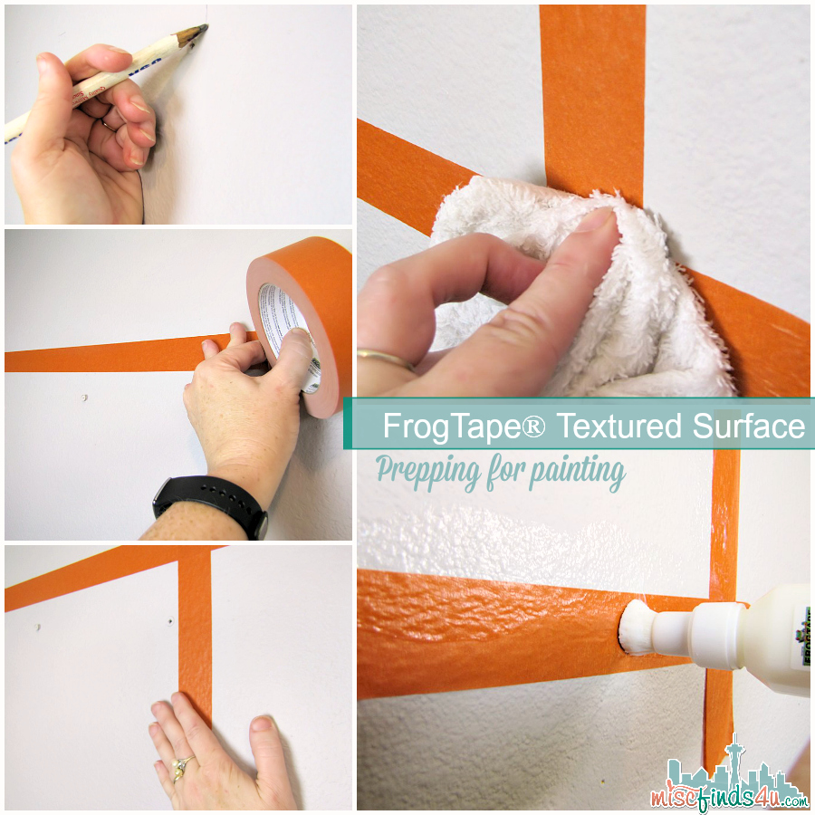 FrogTape® Textured Surface: Paint On! You CAN paint straight lines on textured walls! #PaintOnTextures #DIY - Ad