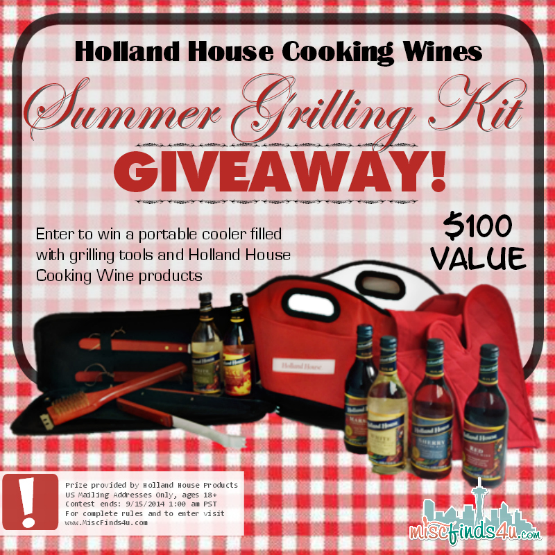 Holland House Cooking Wines Giveaway