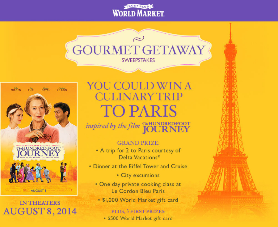 Hundred Foot Journey Sweepstakes
