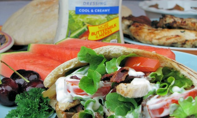 Grilled Onion Chicken Bacon Ranch Pitas – Easy Salad Dressing Recipe
