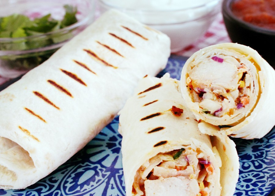 Easy Grill Recipes: Mexican Grilled Chicken Wrap Recipe