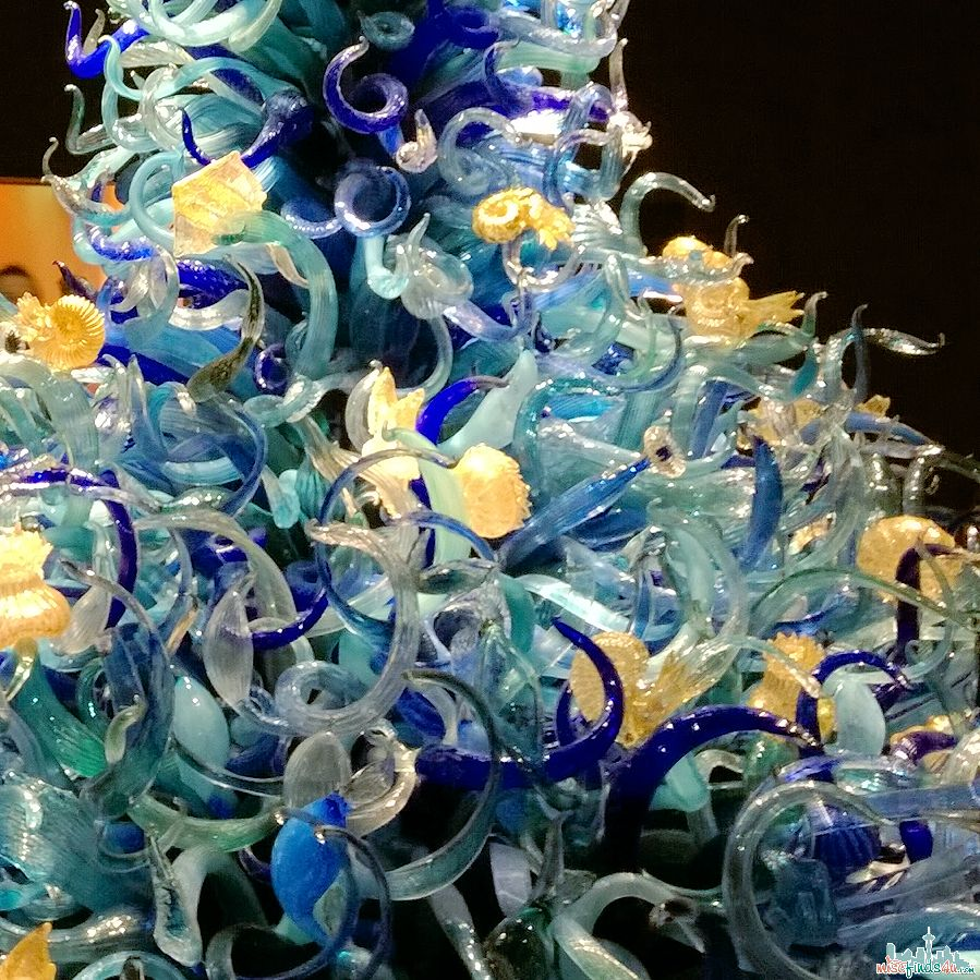 Seattle Chihuly Garden and Glass Exhibit - Sealife Gallery close-up