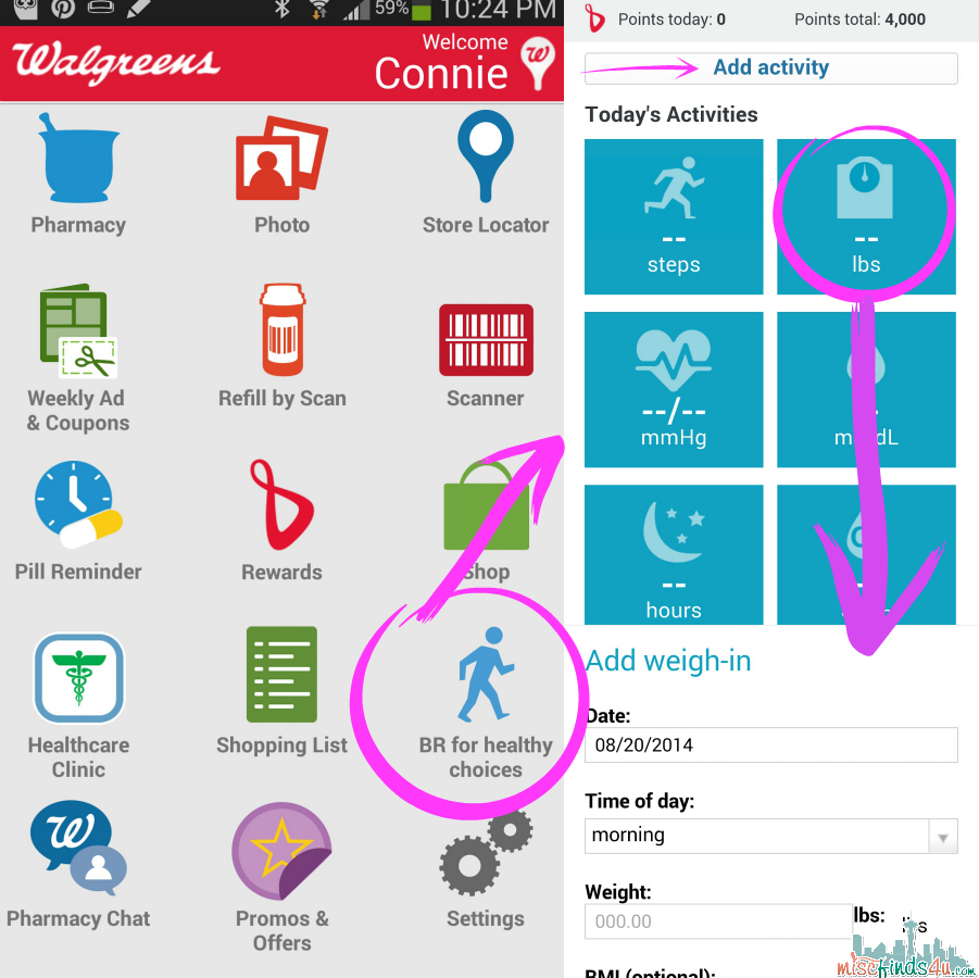 Adding data manually without a tracker on the Walgreens Balance Rewards for healthy choices™ App - #BalanceRewards #shop #cbias