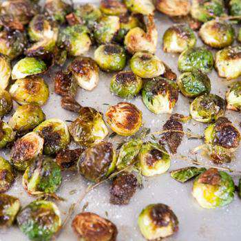Simply Roasted Brussels Sprouts by Spache the Spatula