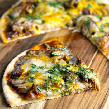 Slow Cooker Pork BBQ Pizza by The Weary Chef