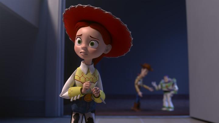 """""""Toy Story OF TERROR!"""" (Disney/Pixar 2013).FOREGROUND: JESSIE.BACKGROUND: WOODY, BUZZ LIGHTYEAR"""