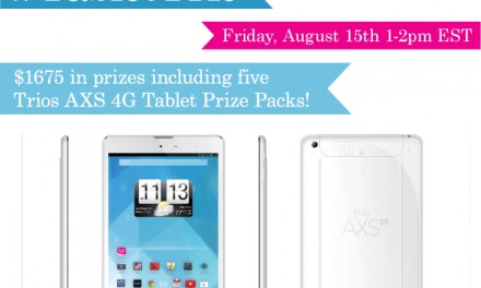 RSVP for the #TabletTrio Twitter Party! 8/15 1pm ET #cbias #shop