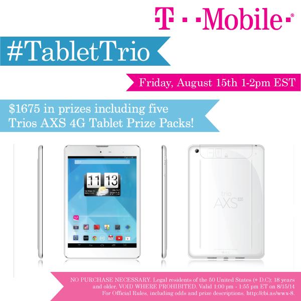 RSVP for the#TabletTrio Twitter Party! 8/15 1pm ET #cbias #shop