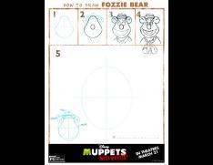 how to draw fozzie bear