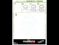 how to draw kermit